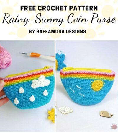 Free Crochet Pattern Rainy Sunny Coin Purse
