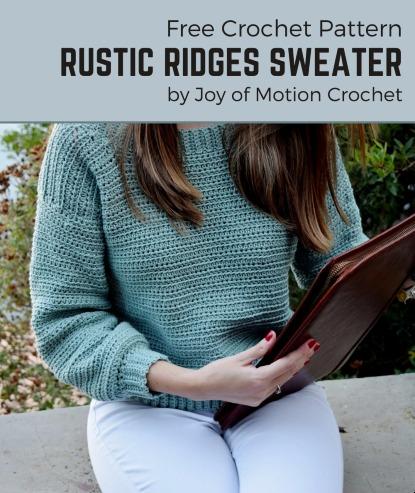 Free Crochet Pattern Rustic Ridges Sweater