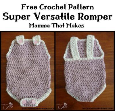 Free Crochet Pattern Super Versatile Romper