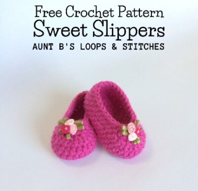 Free Crochet Pattern Sweet Slippers