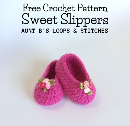 Free Crochet Pattern Sweet Slippers