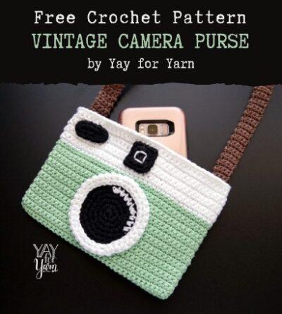 Free Crochet Pattern Vintage Camera Purse