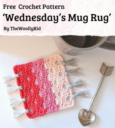 Free Crochet Pattern Wednesday's Mug Rug