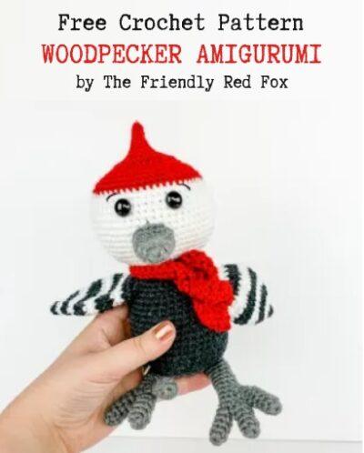 Free Crochet Pattern Woodpecker Amigurumi