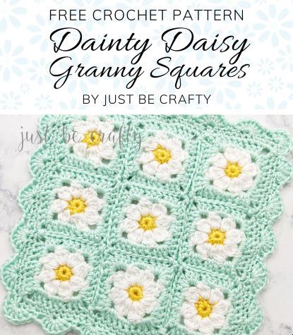 Free Crochet Pattern Daisy Granny Squares