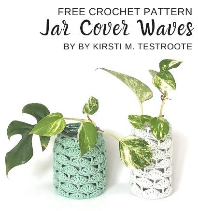 Free Crochet Pattern Jar Cover Waves