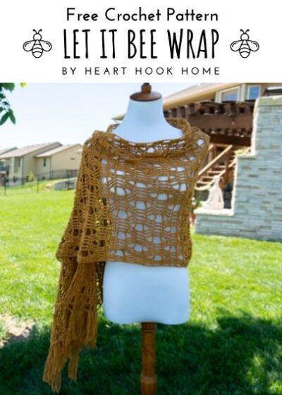 Free Crochet Pattern Let It Bee Wrap