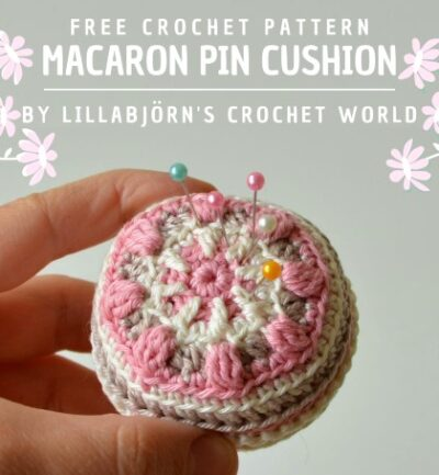 Free Crochet Pattern Macaron Pin Cushion