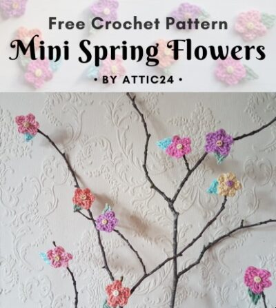 Free Crochet Pattern Mini Spring Flowers