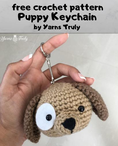 Free Crochet Pattern Puppy Keychain