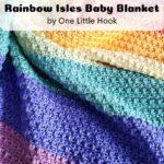 Free Crochet Pattern Rainbow Isles Blanket