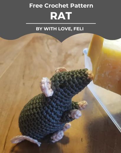 Free Crochet Pattern Rat