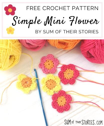 Free Crochet Pattern Simple Mini Flower