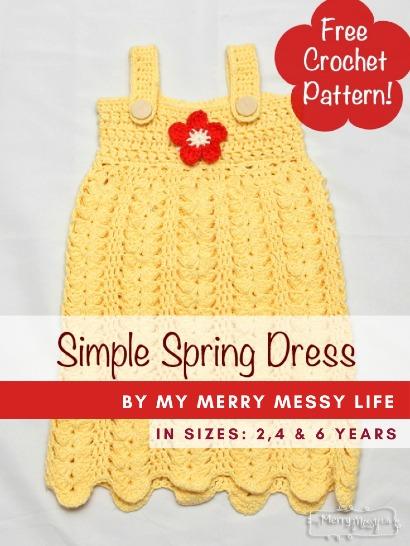 Free Crochet Pattern Simple Spring Dress