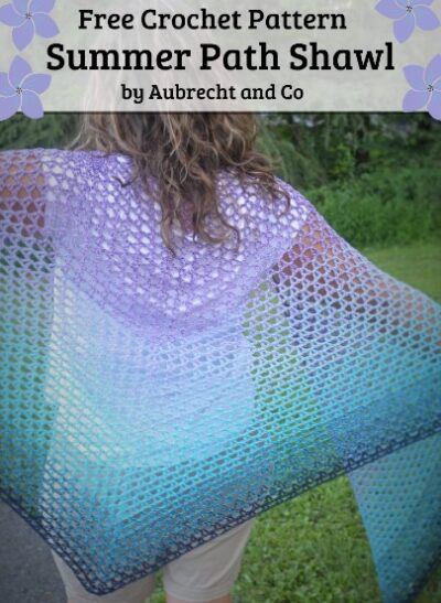 Free Crochet Pattern Summer Path Shawl