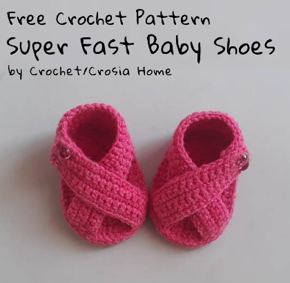 Free Crochet Pattern Super Fast Baby Shoes