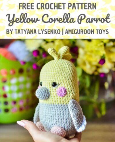 Free Crochet Pattern Yellow Corella Parrot