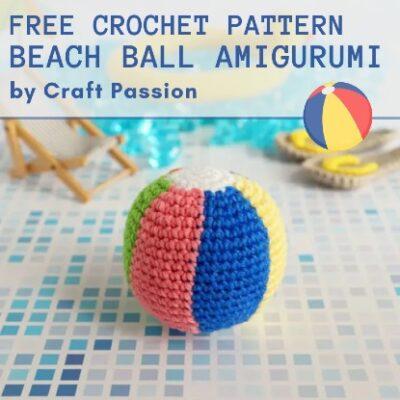 Free Crochet Pattern Beach Ball Amigurumi