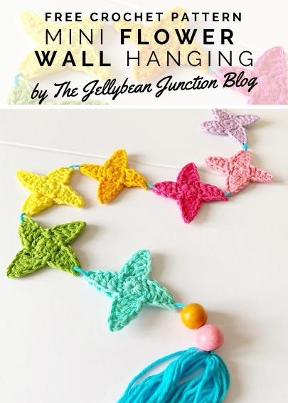 Free Crochet Pattern Flower Wall Hanging