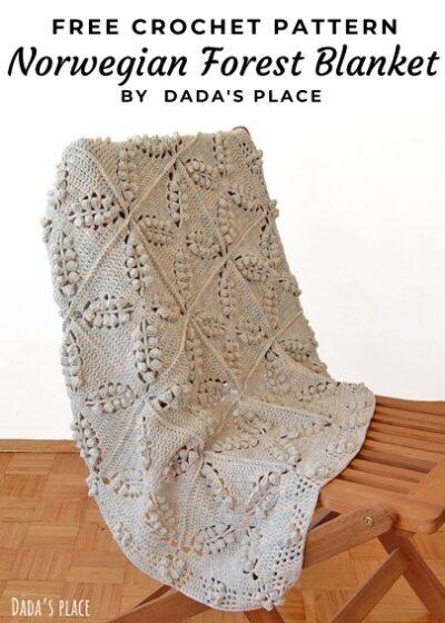 Free Crochet Pattern Norwegian Forest Blanket