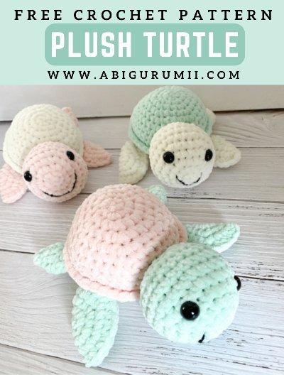 Free Crochet Pattern Plush Turtle