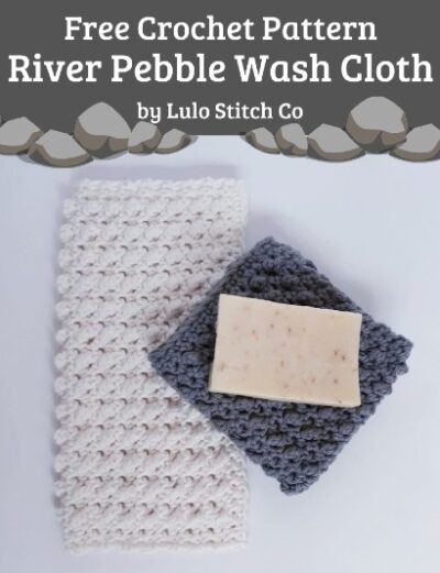 Free Crochet Pattern River Pebble Wash Cloth