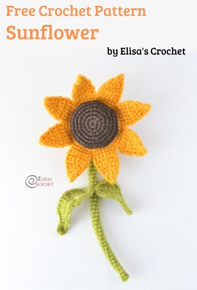 Free Crochet Pattern Sunflower