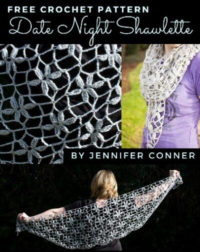 Free crochet pattern Date night Shawl
