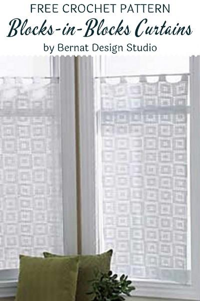 Free Crochet Pattern Blocks in Blocks Curtains
