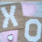 Free Crochet Pattern C2C Alphabet Square