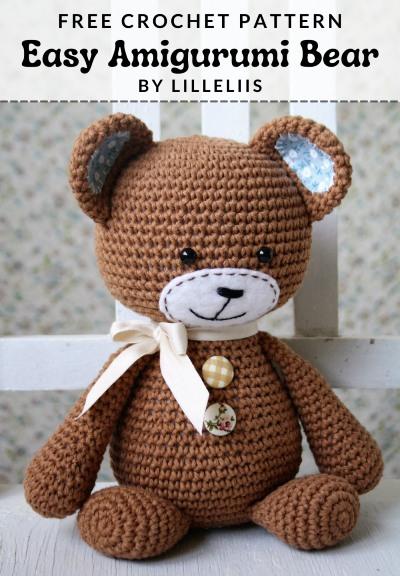 Free Crochet Pattern Easy Amigurumi Bear