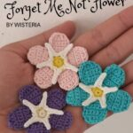 Free Crochet Pattern Forget Me Not Flower