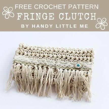 Free Crochet Pattern Fringe Clutch