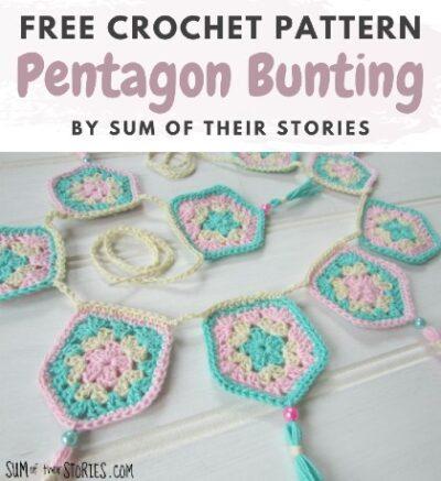 Free Crochet Pattern Pentagon Bunting