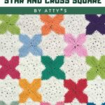 Free Crochet Pattern Star and Cross Square