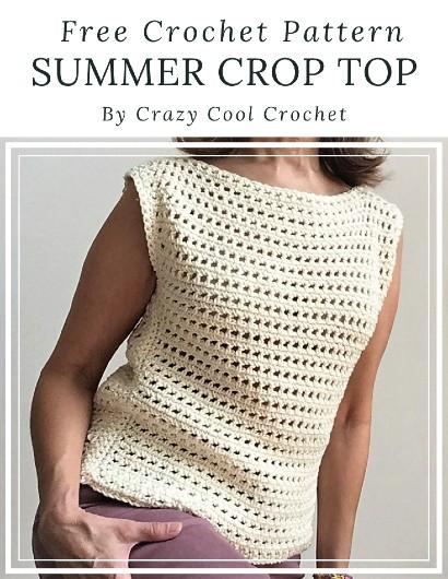 Free Crochet Pattern Summer Crop Top