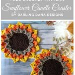 Free Crochet Pattern Sunflower Candle Coaster