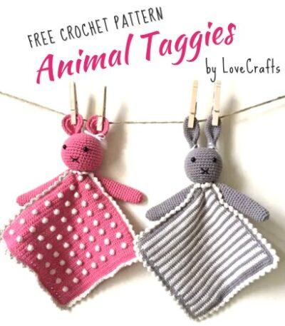 Free Crochet Pattern Animal Taggies