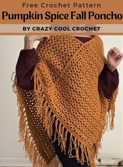 Free Crochet Pattern Fall Poncho