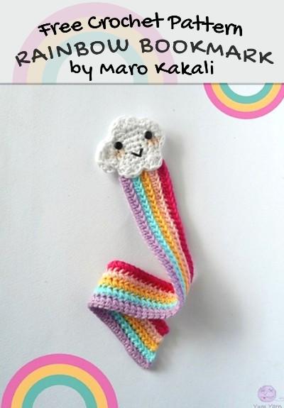 Free Crochet Pattern Rainbow Bookmark