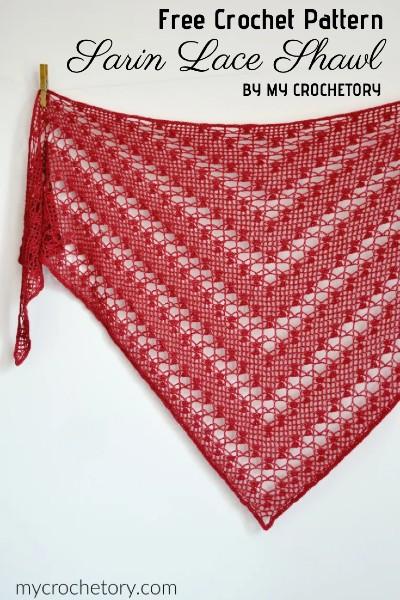 Free Crochet Pattern Sarin Lace Shawl
