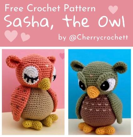 Free Crochet Pattern Sasha The Owl 1