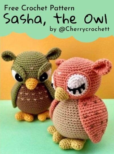 Free Crochet Pattern Sasha The Owl