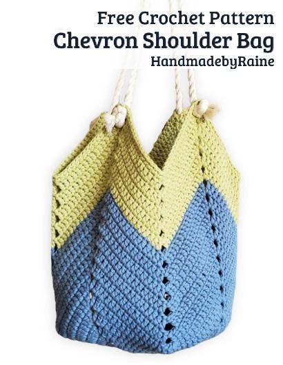 Free Crochet Pattern Chevron Shoulder Bag