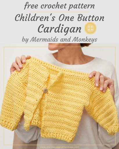 Free Crochet Pattern Children's Cardigan