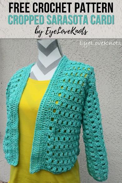 Free Crochet Pattern Cropped Sarasota Cardi