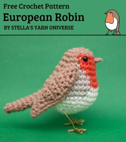 Free Crochet Pattern European Robin
