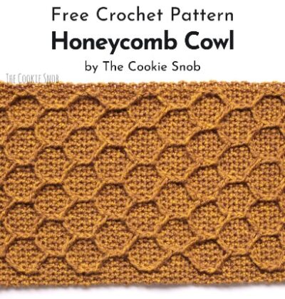 Free Crochet Pattern Honeycomb Cowl