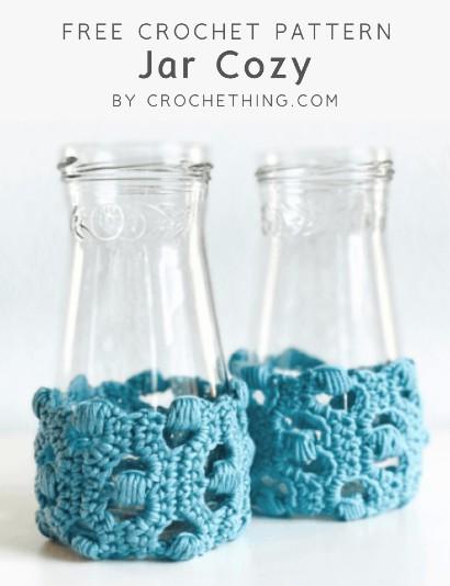 Free Crochet Pattern Jar Cozy