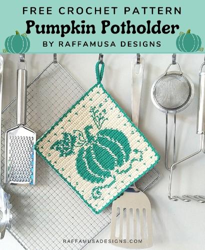 Free Crochet Pattern Pumpkin Potholder